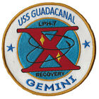 USS Guadacanal LPH-7 NASA Gemini 10 space US Navy ship recovery force patch