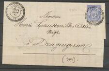 1876 Lettre SAGE N°78 Carnoules VAR (78) CàD type 24 Perlé Ind 17 X1910