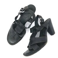 BOC Born Womens Strappy Heels Sandals Sz 8/39 Black T Ankle Strap Shoes