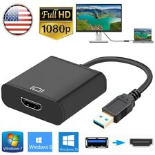US HD 1080P HDMI to USB3.0 Video Cable Adapter Converter F PC Laptop HDTV LCD TV