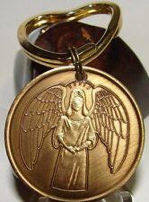 ANGEL Bronze Alcoholics Anonymous AA Medallion NA Narcotics Keychain Token Heart