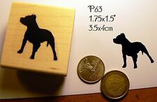 P63 Pit-bull, American Stafford-shire Terrier Breed dog silhouette rubber stamp