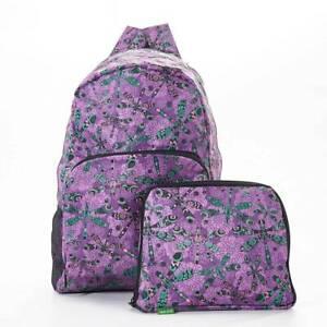 Eco Chic Foldaway waterproof Backpack/Rucksack - 8 designs