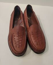 SAS  Brown  Leather  Comfort Women Shoes