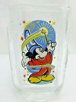 Walt Disney World McDonalds Mickey Mouse 2000 Celebration Square Glass VTG c45