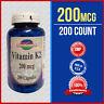 Natural Vitamin K2 - Menaquinone 7 (MK 7) 200 mcg 200 Caps -Quality- Purity USA