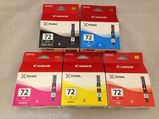 5 Genuine Canon PGI-72 Colour Ink Multipack ( PGI-72 MBK/C/M/Y/R ) Pixma PRO-10