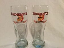 2 Shock Top Belgian White Beer 16 oz. Pilsner Glass Glasses