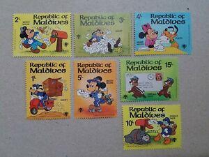 Maldives Mickey , Goofy , Pluto, Donald Duck  Disney Stamps MNH