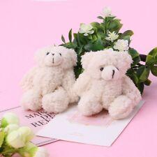 Mini Stuffed Bear Plush Toys White Gummy Bears Animal Toy Key Chain