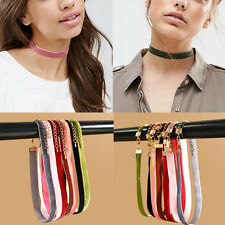 7Pcs/Set Mixed Color Retro Velvet Choker Collar Necklace Punk Gothic Jewelry NEW