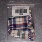 Longaberger Woven Traditions Plaid CHIVES Basket Liner ~ Made in USA ~ New!