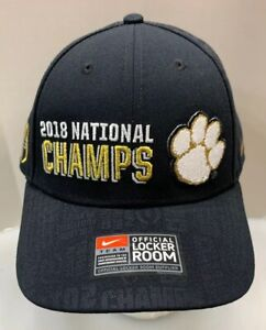 Nike Clemson Tigers 2018 National Champs Champions Locker Room Cap Hat OSFM