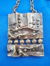 Vintage Modernist Design Anhänger Bronze Sarpaneva Finnland ? Pendant 70s Bronce