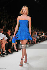 NWT $3,750 Nina Ricci Duchesse RUNWAY Mini Dress Blue Tuffeta Bubble ,sz.38/US 6