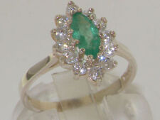 Emerald Anniversary Cluster Fine Rings