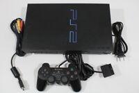 Sony PS2 CRACK SCPH-30000 Black Console Cont AC AV Bundle Japan Import 2PC033M