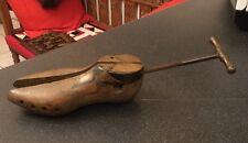 Legno vintage taglia 7 Scarpa FORMA ALBERO BARELLA/ultimo calzolai stampo in metallo Maniglia