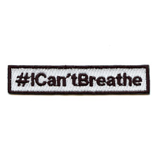 #ICan'tBreathe Movement Box Logo Embroidered Iron On Patch