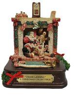 House of Lloyd Christmas Around the World Crash Landing Musical Santa & Deer