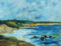 Martha's Vineyard Chilmark Lucy Vincent Beach Original Oil Painting Signed 20""