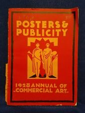 Pre-owned ~ 1928 Posters & Publicity, F. A. Mercer PB (Fine Printing And Design