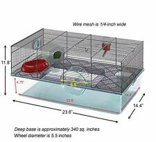 Favola Hamster Cage Includes Free Water Bottle, Exercise Wheel, Food Dish.