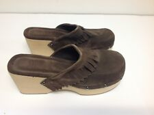 Womens Shoes Size 10 Wilson Leather Mules Clogs