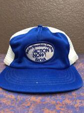 Trucker Hat Mountain Section Action Now AWWA Blue Mesh SnapBack Baseball Cap