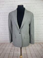 Zanella Women's Grey striped wool Suit size 8 $1575