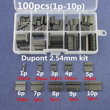 1P/2P/3P/4P/5P/6P/7P/8P/9P/ 10 Pin Housing Terminal Dupont Wire Connector Kit