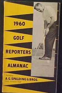 RARE 1960 SPALDING GOLF REPORTERS ALMANAC!