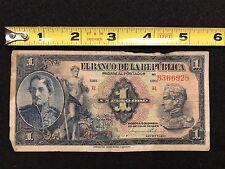 El Banco de la Republica Colombia 1 Peso Oro