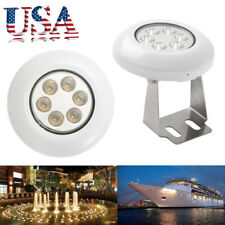 1Pcs Warm White 12W 12V IP68 Underwater Yacht Boat Pond LED Swimming Pool Light