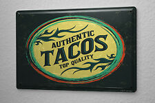 Tin Sign Retro Tacos