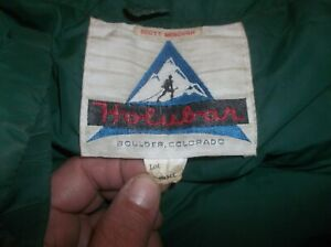 Holubar Goose Down Vintage Parka Puffer Jacket Coat Rare USA Small DURABLE GREEN