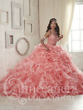 Two Pieces Prom Dresses Ball gown Quinceanera Party Pageant Formal Dress Custom