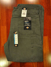NWT DICKIES DU336RMS SANDED DUCK MOSS CARPENTER WORK RELAXED FIT JEANS W42 X L32
