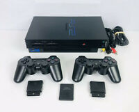 PlayStation 2 PS2 Fat Console Bundle, 2 Wireless Controllers,128mb Memory Card