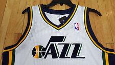 NEW ADIDAS UTAH JAZZ PRO CUT NBA JERSEY BLANK WHITE AUTHENTIC SIZE 4XL +4 4X NWT