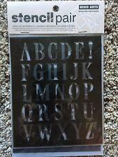 Hero Arts Stencil Pair - Subway Type  - Alphabet & Numbers  SA052 NEW