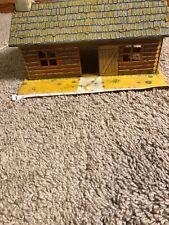 vintage Tin Toy Log Cabin