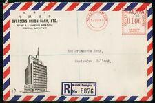 Mayfairstamps Malaya 1960 Kuala Lumpur Overseas Bank Union Registered Metered ww