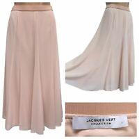 Jacques Vert Godet Maxi Skirt Blush Pink Size 12 UK