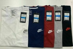 nike mens Logo T-Shirt Top Retro Fitted Cotton Tee UK