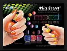 Set of 10 pcs MIA SECRET MOOD COLOR CHANGING NAIL POLISH LACQUER - MADE IN USA