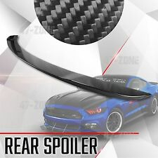 For 15-17 Ford Mustang Gloss Real Carbon Fiber Spoiler Factory Style Rear trunk