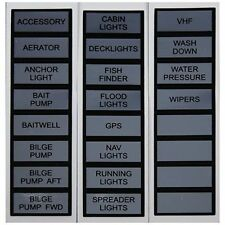Marpac Marine Label Kit for Switch Panel Basic. Fits all Marpac switch panels MD