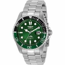 INVICTA Pro Diver Men 43mm Stainless Steel Stainless Steel Green dial PC32 Qua..