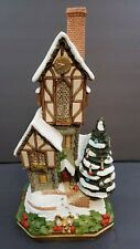 David Winter Cottage The Christmas Time Clockhouse Premier 2969/3500 1994 w/Box